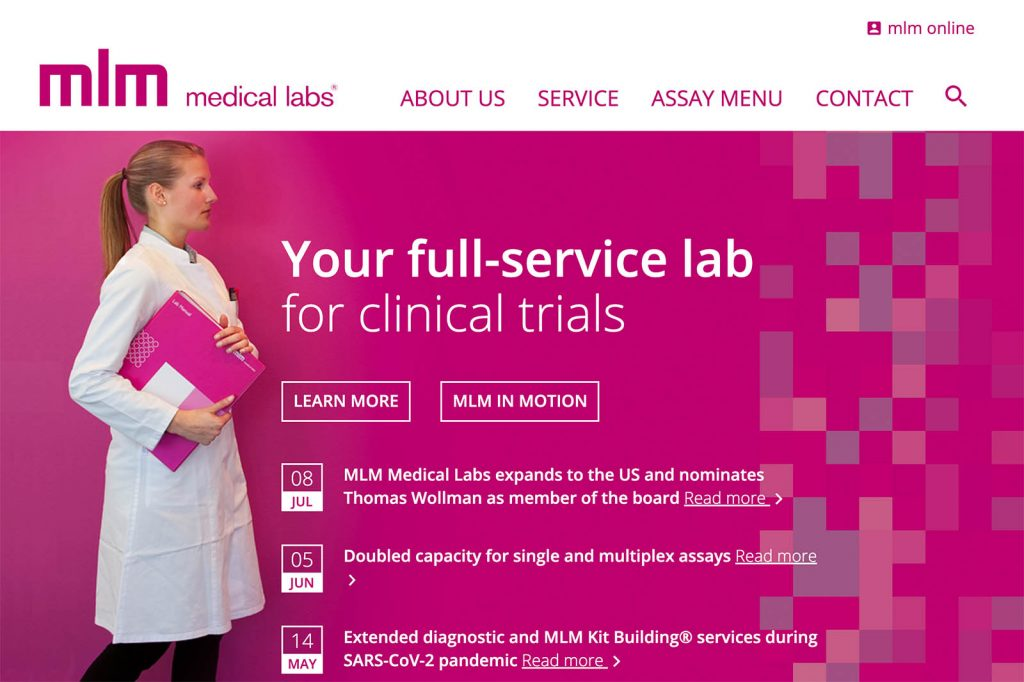 MLM medical labs Screenshot