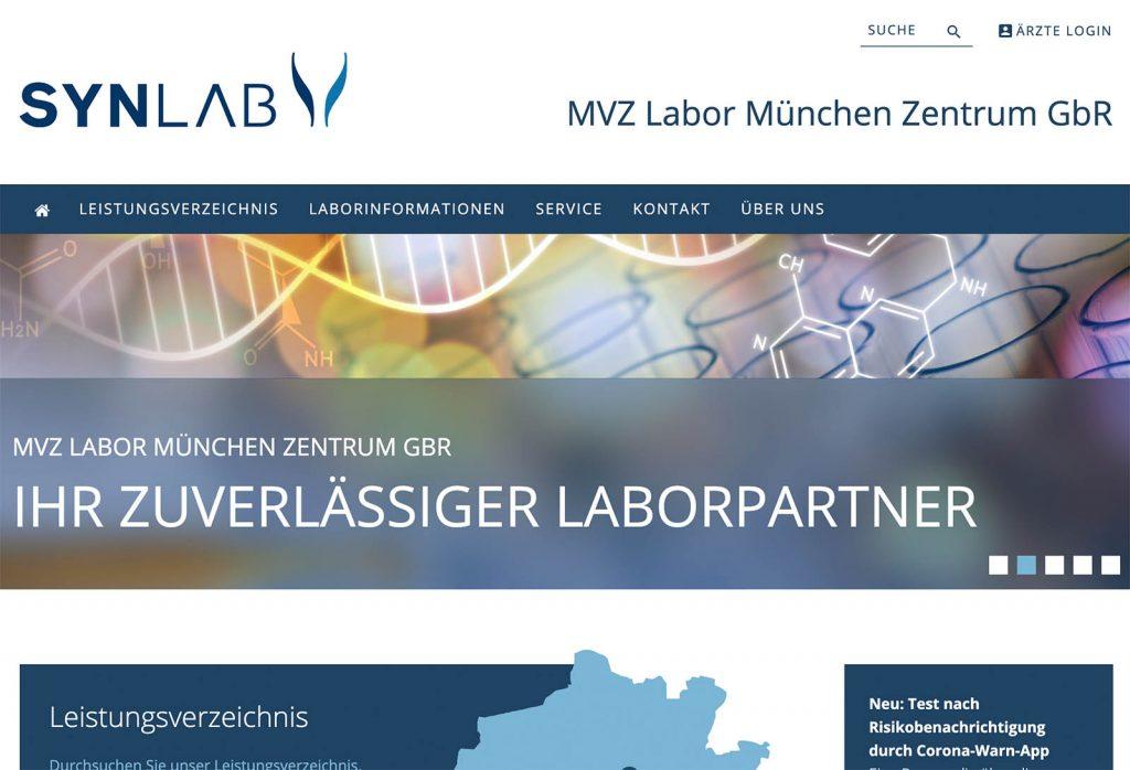 Synlab Labor München Zentrum Screenshot