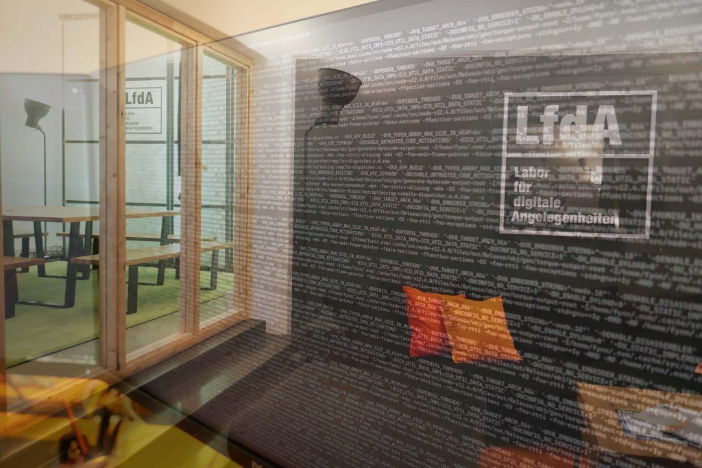 LfdA - Innenraum mit digitaloverlay